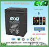 6V 4AH Solar Power Storage Batteries Deep Cycle Lead Acid Battery With high performance