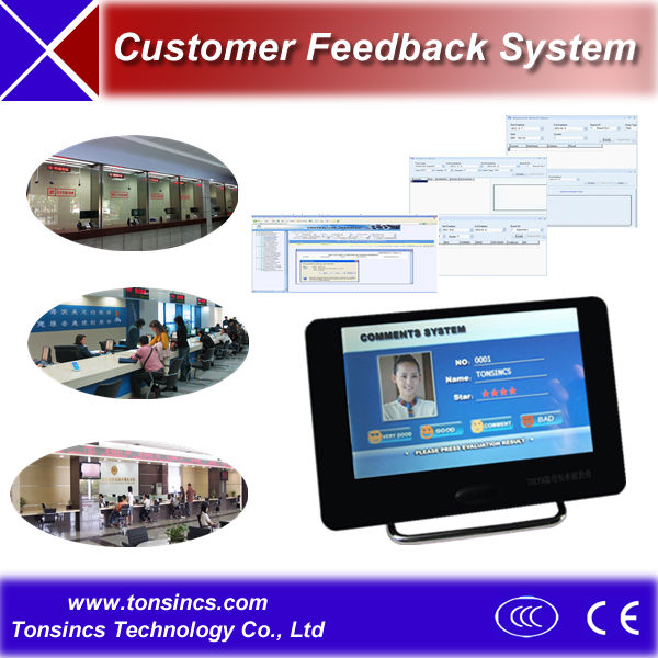 7 inch Banking/Hospital/Telecom Tablet Customer Feedback and Evaluation Terminal