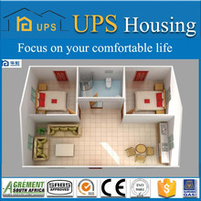 Fast buidling refugee houses Prefabricated modular home design,modern slope roof prefab house