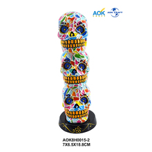 Hand Painted Harmless Colorful Resin Skulls Decorative