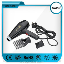2000- 2300W New Design AC Salon Professional Ionic Hair Dryer GEK-3000