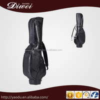 New Professional custom-made crocodile skin golf cart bag,leather golf bag