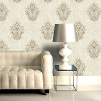 YG505 vinyl pvc floral design wallpaper for house decoration