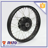 2016 hot selling motorcycle black spoked wheel rim