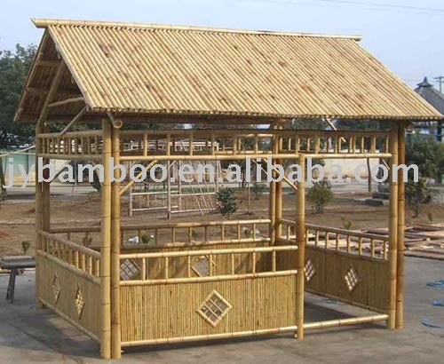 outdoor bamboo house