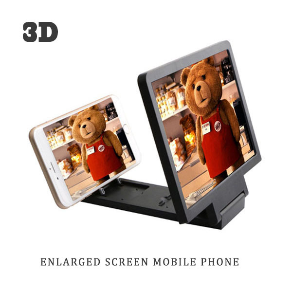 Mobile phone 3D LCD LED Screen portable video magnifier 3 times enlarger for all smart phone