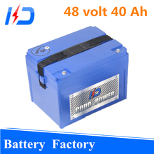 100% powerfull&New cells for car/golf cart 18650 48v 40ah lithium battery pack electric scooter