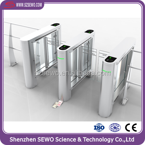 Drop card accepted barrier gate pedestrian swing gate