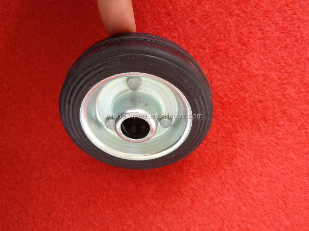 Small solid rubber toy wheel with roller bearing/plaine bearing