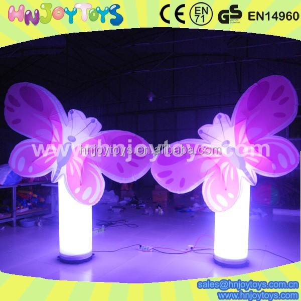 2017 Hot sale Color illuminated wedding stage backdrop decoration inflatable star