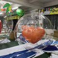 Wholesale Inflatable Double Layers Balloon Custom Inflatable Transparent Balloon With Heart  Balloon In Side