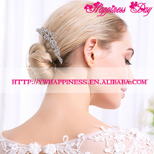 Austrian Rhinestone Crystal Hair Combs Wedding Bridal Party Gift Silver & Golden Plated Vintage Hair Pins Hair Accessories