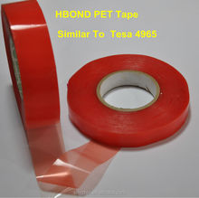 Lens Applied Tesa 4965 acrylic adhesive red line pet tape