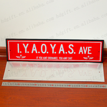Emboss Metal Road Street Name Plate Sign Address Number Plaque