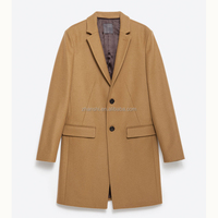 Fashion Custom Camel Pea Mens Woolen Coats