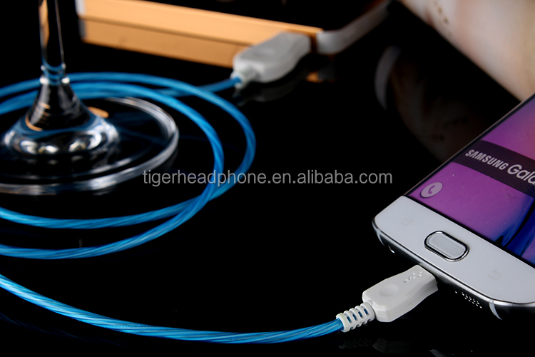 Factory wholesales usb led light flashing data cable driver for iphone