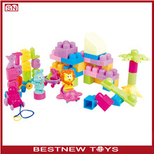 Paradise building blocks train set children plastic bricks toy