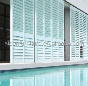 Blackout Sun Shade Curtain Plastic Blinds Exterior Blinds for Windows