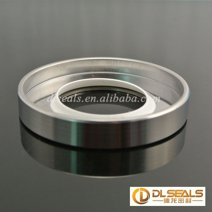 Double lips stainless steel ptfe oil seal