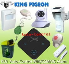 App store wireless intelligent WIFI GSM home security alarm system K10