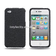 Black Crystal Bling Bling Rhinestone Case for iPhone 4