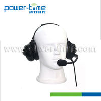 Motorcycle helmet two way radio headset with Quick replease cable and IN line PTT (PTE-740I)