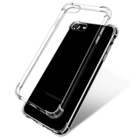 Clear soft TPU Shockproof phone case for iPhone 7