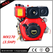 Best price MX170 3.5HP High Quality single cylinder Lister Diesel Engines Price For Sale
