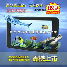 Christmas Day surprising !!! 3D naked eyes dual core pc 1.2GHz two cameras !3D movie! 3D games ! wifi 3g sim card tablet