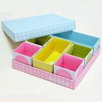 good price printed paper top and bottom gift box with smaller size boxes inside
