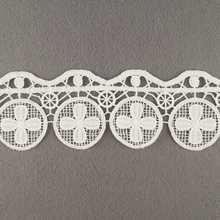 African Sequence Flower Design Eyelet Knit Lace Trim