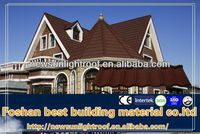 stone coated metal roof tile for villa roofing system,roofng sheet material,weatherproof material