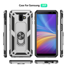 2019 new rugged kickstand ring <strong>phone</strong> covers for Samsung J6 PLUS shockproof case