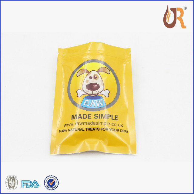 Print stand up ziplock reseal food grade polythene bag for nuts with foil inside