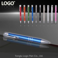 Personalized logo gift metal twist ball pen promotion plastic ballpoint pen for stationery