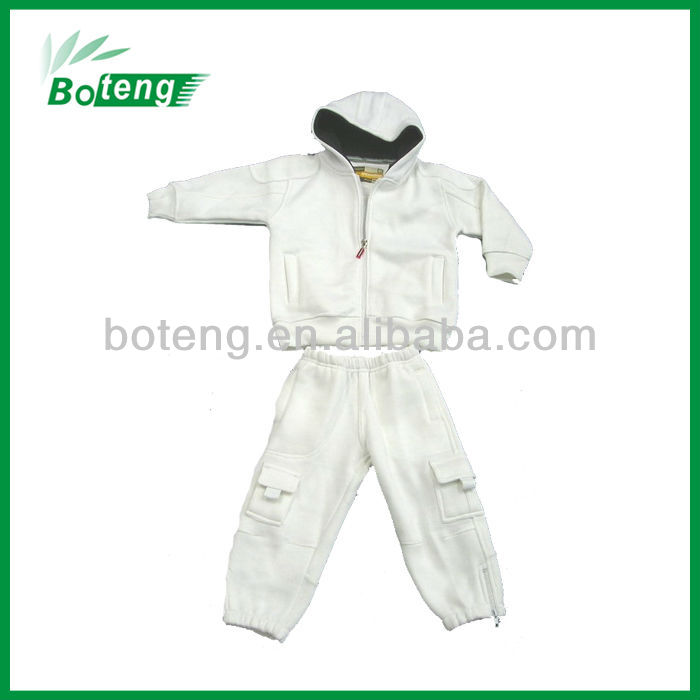 100% Acrylic Fleece Boy's Hooded Jogging sets