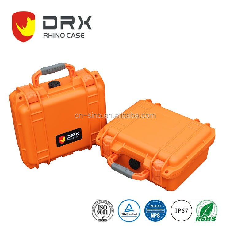 waterproof IP68 rugged plastic case, universal camera equipment storage case with handle