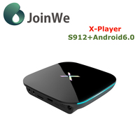 New Update Qbox Amlogic S912 Octa-core Xplayer android 6.0 smart tv box