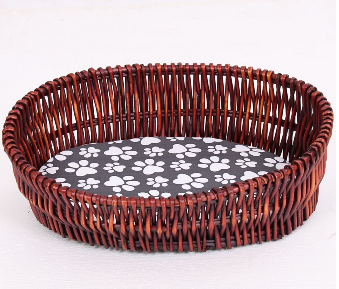 SMDB0003 The Wicker hand made Weave Dog Beds Cat bed with Mats