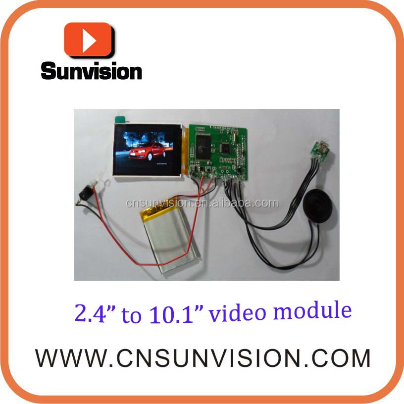 "Sunvision EXW prices 3.5"" TFT video greeting card modules LCD video display module video brochure modules"