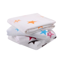 Star Bamboo cotton fabric cloth baby muslin swaddle wrap blanket