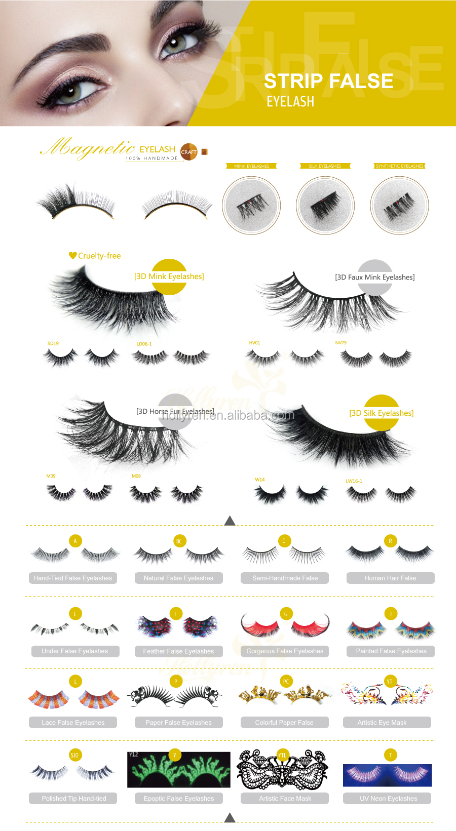High Quality Super Dense Multilayer 3D Mink Strip Eyelash