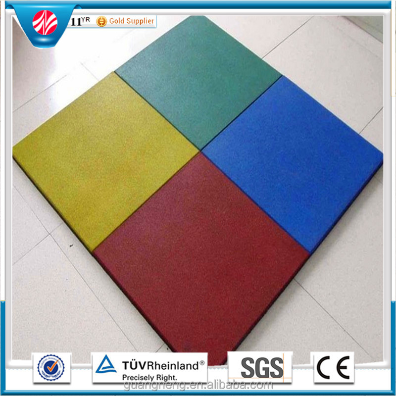 Drainage and high elastic rubber tiles Colorful playground rubber paving