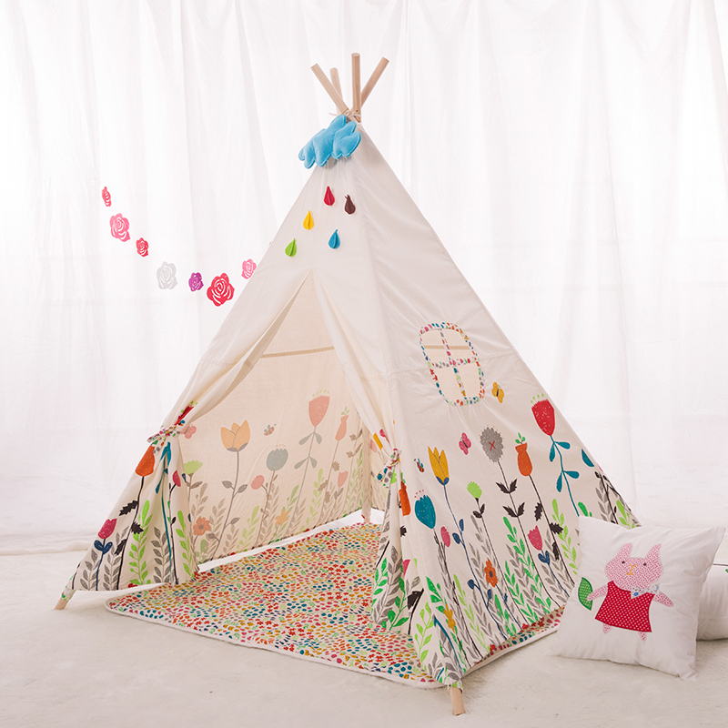 Get Quotations · Teepee Kids DIY Play Children Play House Toy Tent Indian teepee castle Tipi Printed flower style  sc 1 st  Alibaba & Cheap Teepee Tipi find Teepee Tipi deals on line at Alibaba.com