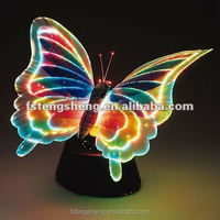 Animal Style Color Changing LED Fiber Optic Butterfly Light