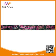 Holographic Happy Birthday Foil Banner