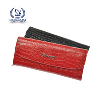 long style crocodile leather wallet and purse