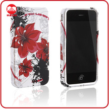 Hot Sale Red Flower Soft Silicone TPU Gel Skin Stylish Customize Printing Design for iphone Case