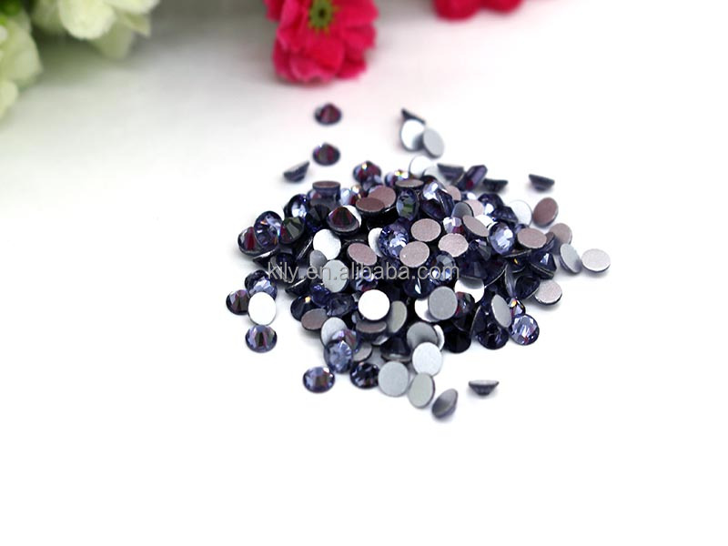 10Gross/bag Round Flat Back Acrylic Rhinestones Gems Violet Colors For Sale