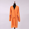customized soft microfiber suede fabric bathrobe